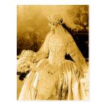 Postal Fotografía de oro de la novia del vintage