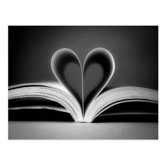 Postal Fotografía del libro del corazón