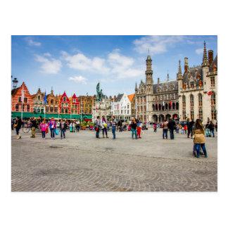 Postal Fotografía del mercado de Brujas