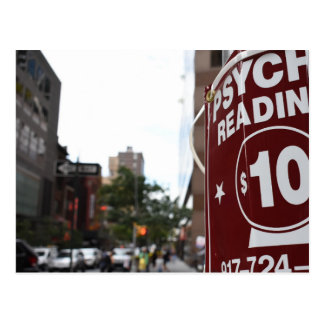 Postal Fotografía psíquica de la calle de New York City