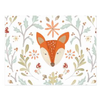 Postal Fox caprichoso del arbolado