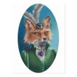 Postal Fox del Victorian de señora Fox Postcard Animal