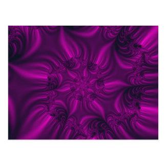 Postal Fractal que tuerce en espiral púrpura vibrante