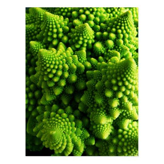 Postal Fractales tridimensionales verdes