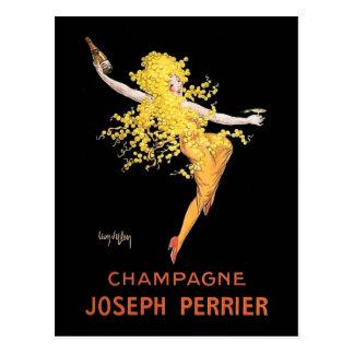 Postal Francés Champán del vintage