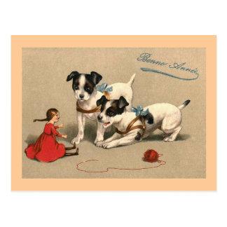 Postal Francés del vintage de Bonne Annee