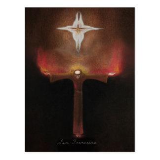 Postal Franciscos de Asís del santo