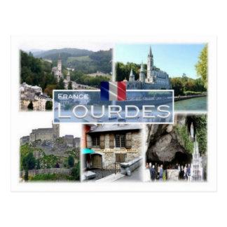 Postal Franco Francia - Lourdes -