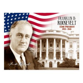 Postal Franklin D. Roosevelt - 32do presidente de los