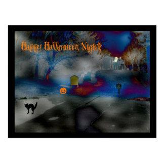 Postal Franqueo de la noche del feliz Halloween