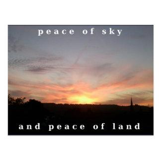 Postal Fraseología de la paz de la explosión de la puesta