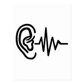 Postal Frecuencia del oído