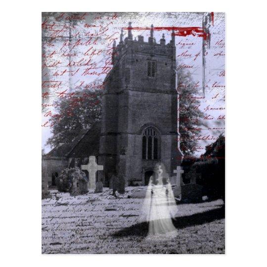 Postal frecuentada gótico del cementerio