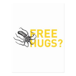 Postal Free hugs octopus