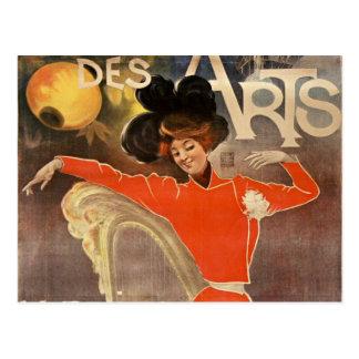 "Postal french retro estilo post card ""cabaret de las"