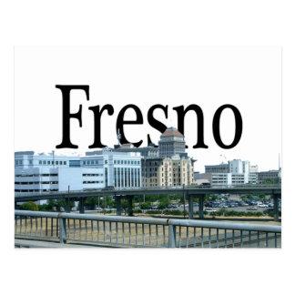 Postal Fresno California con Fresno en el cielo