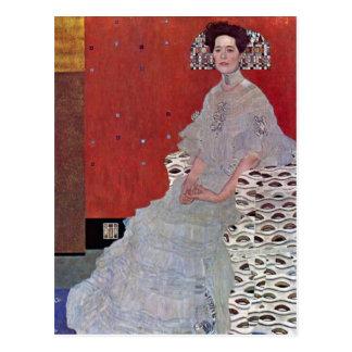 Postal Fritza Reidler Klimt de Gustavo Klimt