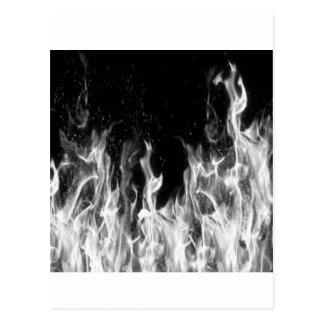 Postal Fuego (blanco y negro)