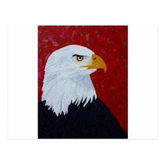 Postal Fuego en el águila del cielo