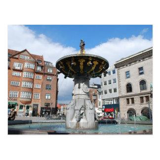 Postal Fuente bien Copenhague Dinamarca de Caritas