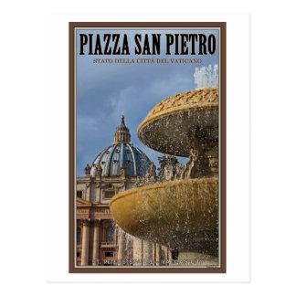Postal Fuente cuadrada de la Ciudad del Vaticano - St