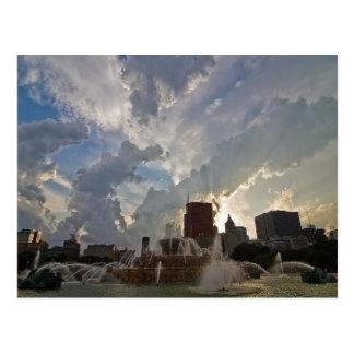 Postal Fuente de Buckingham de Chicago