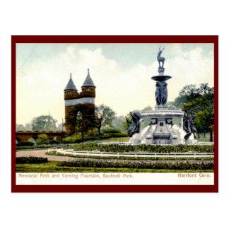 Postal Fuente de Corning, parque de Bushnell, Hartford