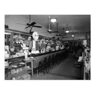 Postal Fuente de soda de Dixie, los años 20