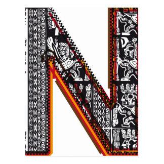 Postal Fuente del ` s del inca, letra N
