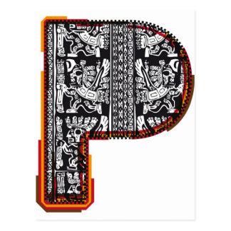 Postal Fuente del ` s del inca, letra P