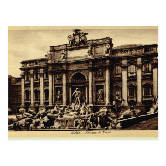 Postal Fuente del Trevi de Roma