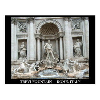Postal Fuente del Trevi en Roma, Italia