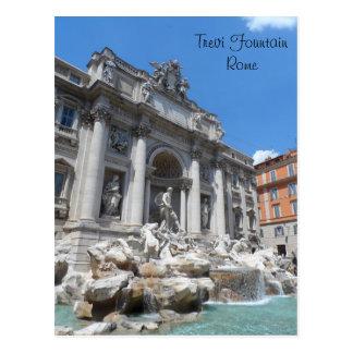 Postal Fuente Roma del Trevi
