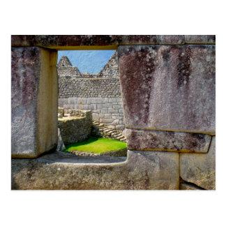 Postal Fuera de la ventana Incan