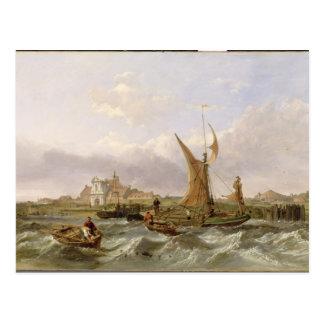 Postal Fuerte del tilburí - viento contra la marea, 1853
