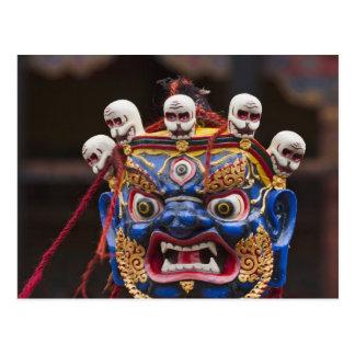 Postal Funcionamiento de la danza de la máscara en el
