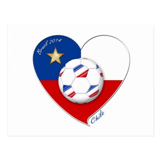 "Postal Fútbol ""CHILE"" 2014. Chilean national soccer team"