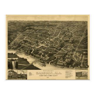 Postal Gadsden Alabama en 1887