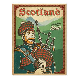 Postal Gaitero del bolso de Escocia el |