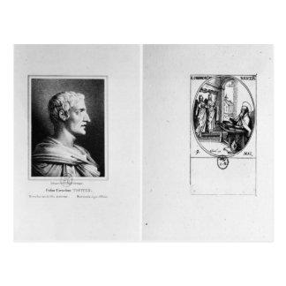 Postal Gaius Cornelio Tácito grabado por Julien