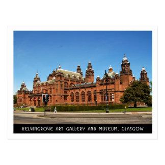 Postal Galería de arte de Kelvingrove y museo, Glasgow