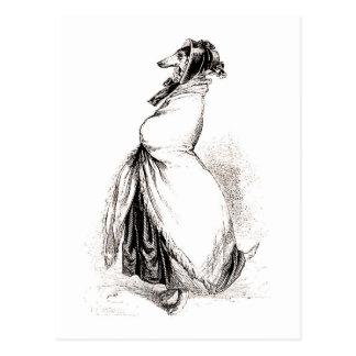 Postal Galgo   53 por Grandville (1803-1847)
