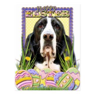 Postal Galletas del huevo de Pascua - Basset Hound -