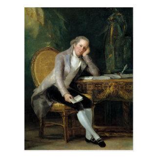 Postal Gaspar Melchor de Jovellanos de Francisco Goya