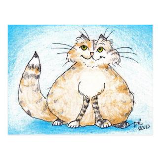 Postal ¿Gatito gordo del gatito gordo, dónde usted ha