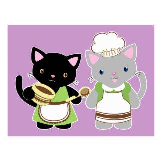Postal Gatitos de la hornada del yoyo y de Suki Neko
