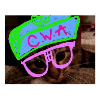 Postal Gato con actitud