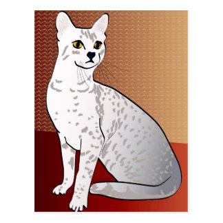 Postal Gato de Mau del egipcio - fondo de bronce