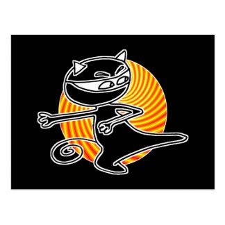 Postal Gato de Ninja