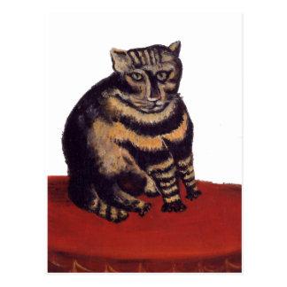 Postal Gato de Tabby de Henri Rousseau